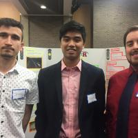 ITI 210 Showcase students Shaq Sakhobiyen, Nick Creer and Nick Vignali