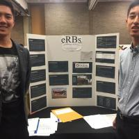 Alan Fai and Jon Kim present their Showcase project for their team