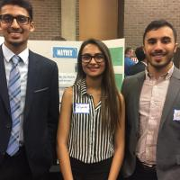 Amit Patel, Priyanka Parikh, Vishal Dholakia at the Showcase Pitch, Poster and Prototype competition