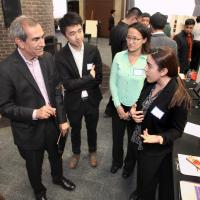 Judge Tom Saggiomo hears about RU Organized features from Tanla Ayikm, Jian Song, and Victoria Cilurzo