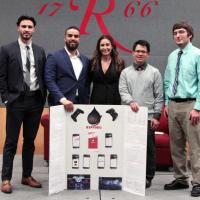 Judges Choice winner Kantoku - Team members: Anthony Barone, Moises Gomez, ITI Instructor Kristen Luciani, Xavier Ruivivar, and Michael Czipo